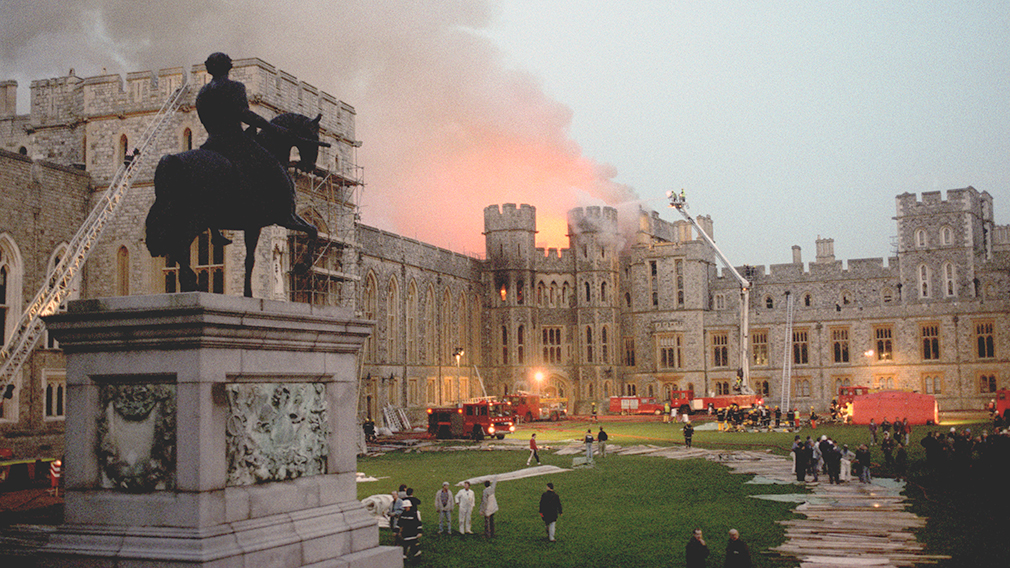 The fire at Windsor Castle