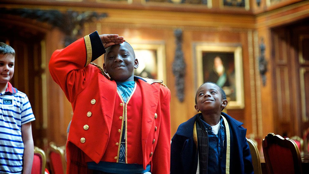 Children visiting Windsor Castle