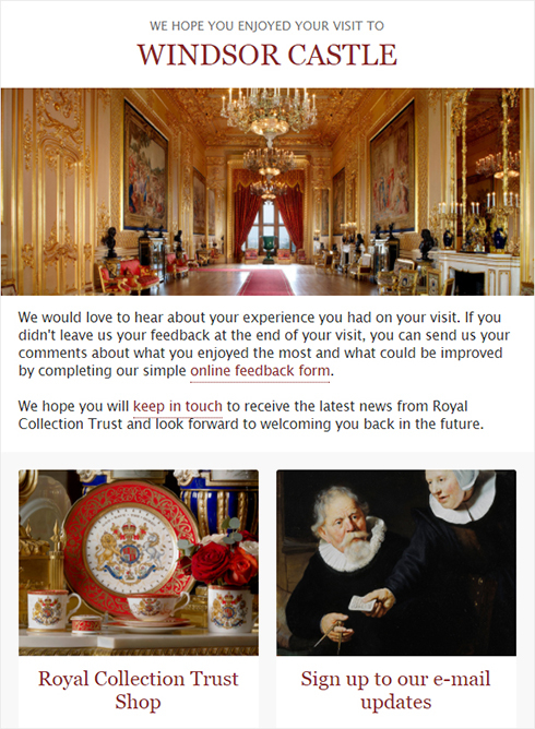 Send feedback about your visit via our e-mail
