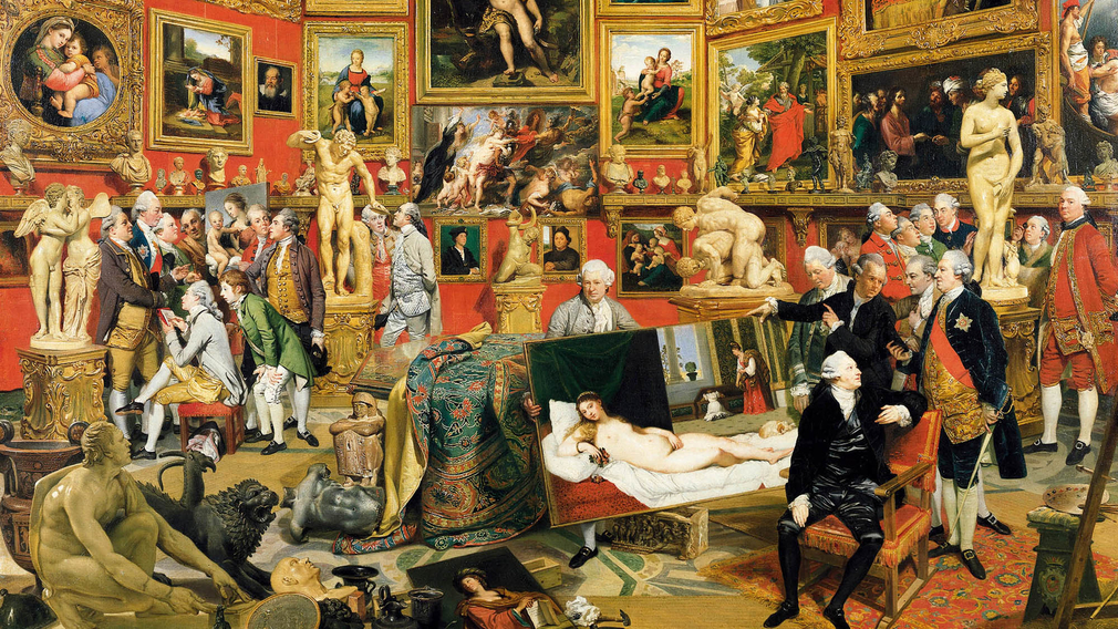 Johan Zoffany, The Tribuna of the Uffizi, 1772 - 1777