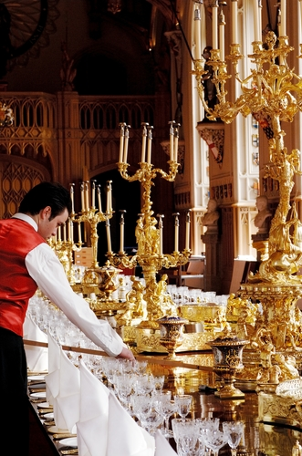Preparations for a State Banquet at Windsor Castle