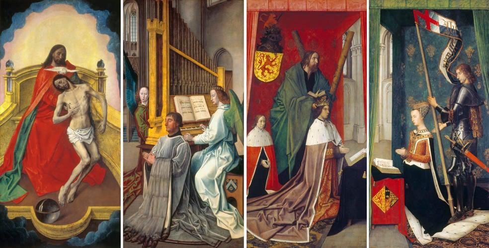 The Trinity Altarpiece panels