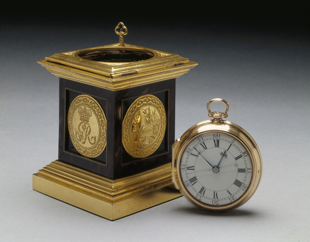 Queen Charlotte's Lever Watch and Pedestal