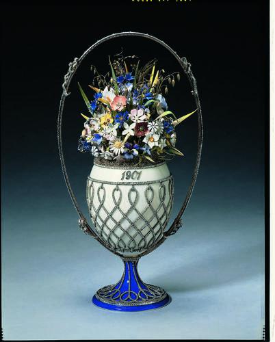 Basket of flowers egg