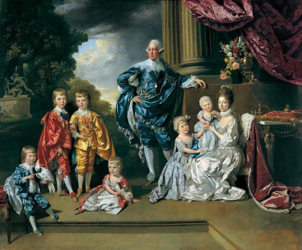 George III (1738-1820), Queen Charlotte (1744-1818) and their Six Eldest Children