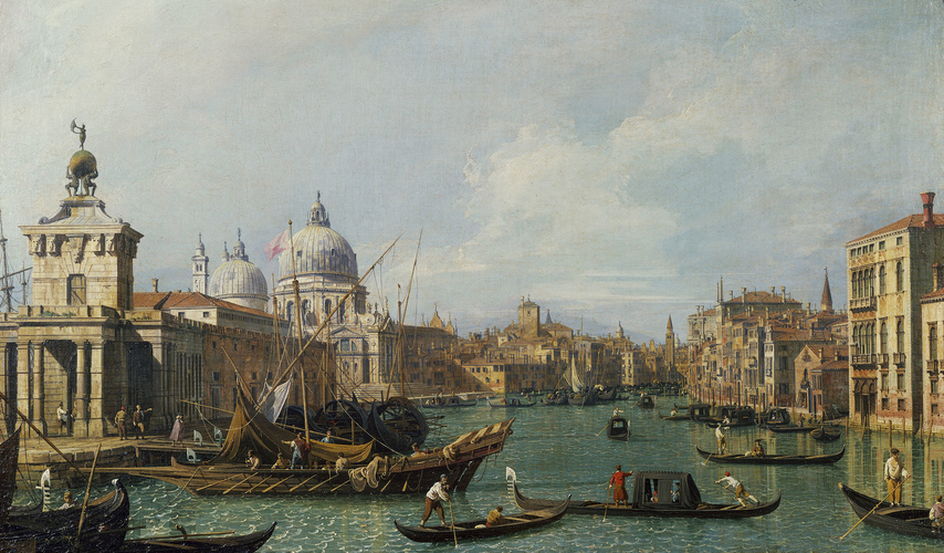 The Mouth of the Grand Canal looking West towards the Carita