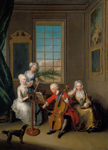 'The Music Party': Frederick, Prince of Wales with his Three Eldest Sisters