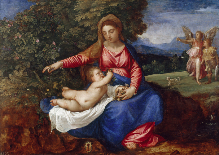 Madonna and Child in a Landscape with Tobias and the Angel