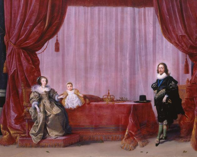 Charles I, Henrietta Maria and Charles, Prince of Wales (later Charles II)