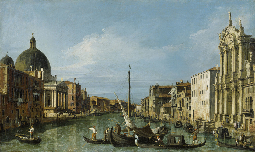 The Grand Canal looking West with the Scalzi and San Simeone Piccolo