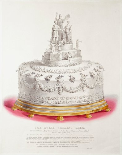 THE ROYAL WEDDING CAKE. Her most Gracious Majesty Queen Victoria and His Royal Highness Prince Albert Married February 10th 1840