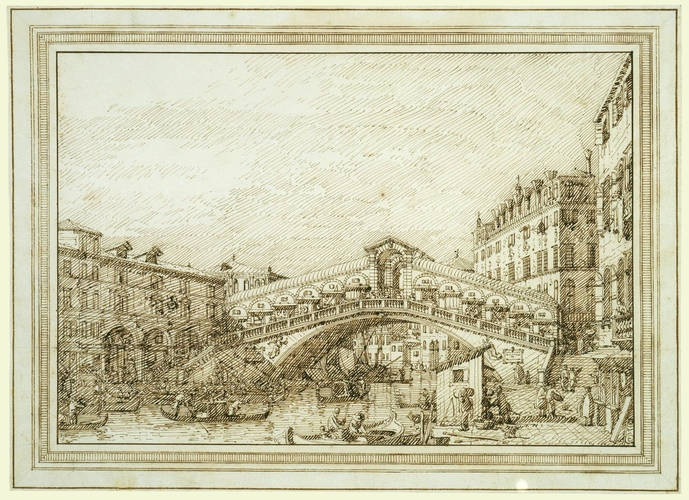 Venice: The Rialto bridge from the south-west