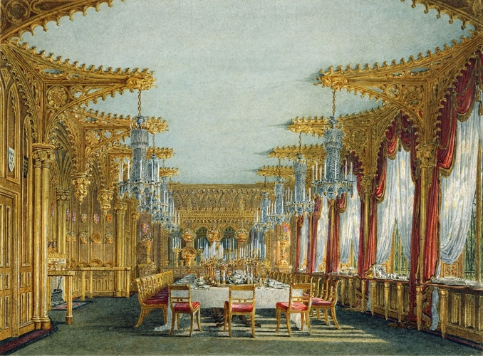 Carlton House: The Gothic Dining Room, 1817
