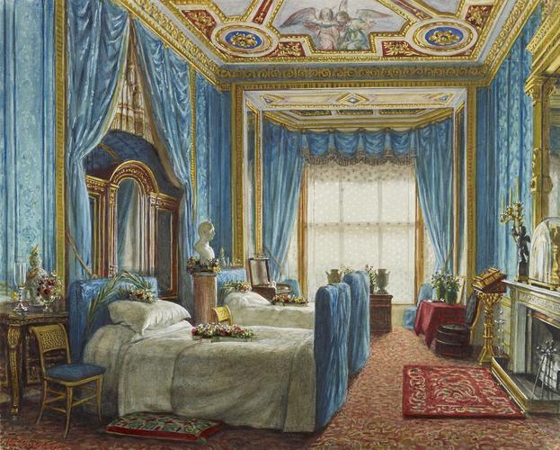 Windsor Castle: the Blue Room, looking toward the window