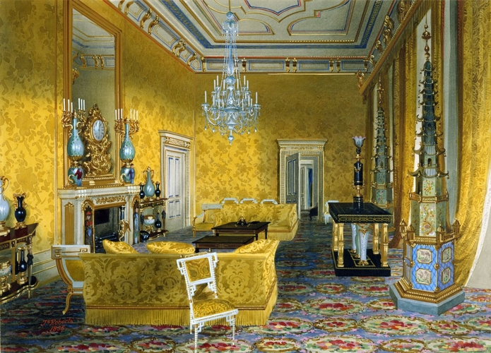 The Yellow Drawing Room at Buckingham Palace