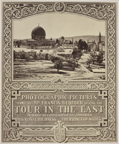 Photographic title page: 'Photographic Pictures made by Mr Francis Bedford during the Tour in the East'