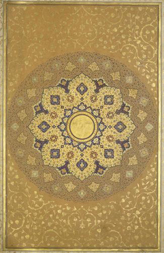Master: The Padshahnama Item: The Padshahnama : opening shamsa (sunburst)