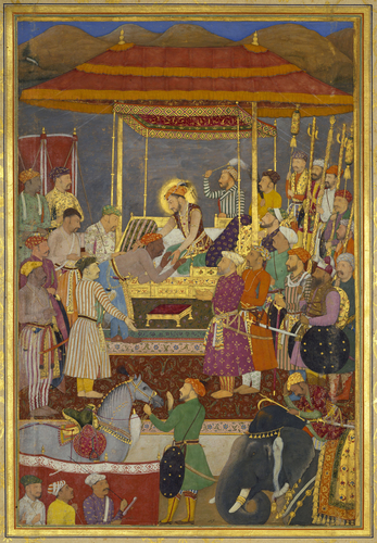 Master: The Padshahnama Item: The Submission of Rana Amar Singh of Mewar to Prince Khurram (5 February 1615)