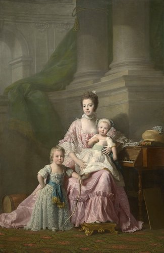 Queen Charlotte (1744-1818) with her two Eldest Sons