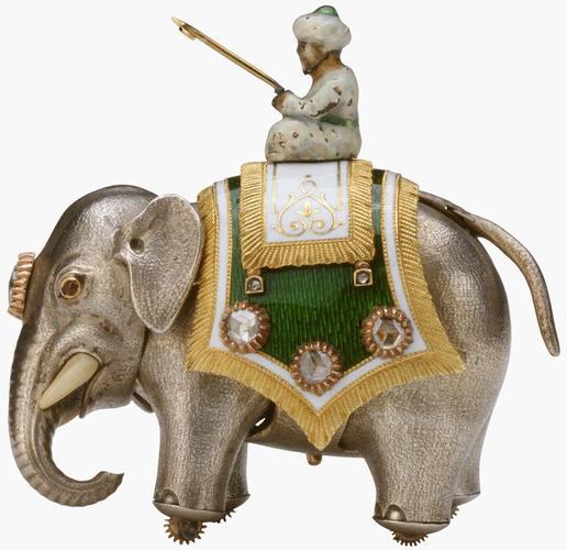 Elephant automaton, box and key
