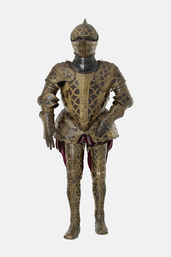 Armour garniture of Sir Christopher Hatton for the field, tourney, tilt and barriers