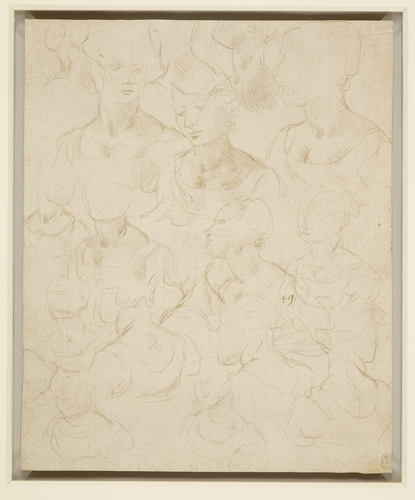 Sketches of a woman, bust length