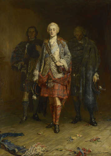 Bonnie Prince Charlie Entering the Ballroom at Holyroodhouse