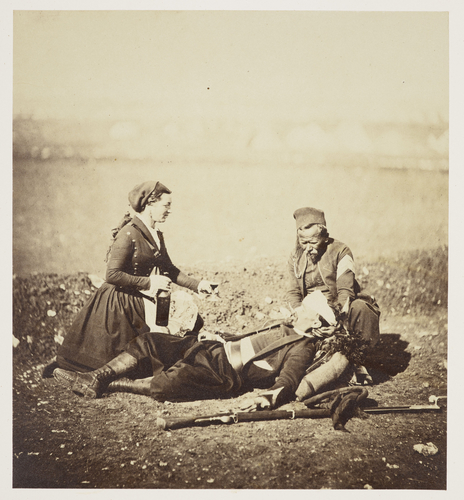Wounded Zouave & Vivandiere
