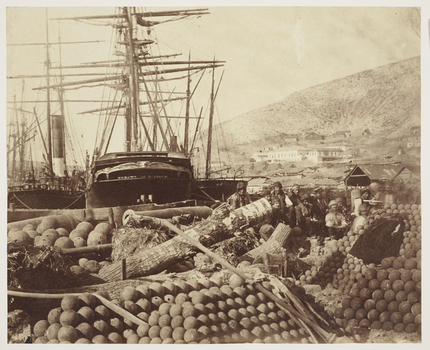 Balaklava Ordnance Wharf, 1855 [in Photographic Views and Portraits of the Crimean Campaign, Box 3]
