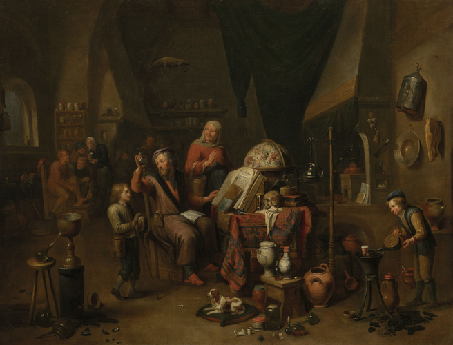 A Physician in his Study