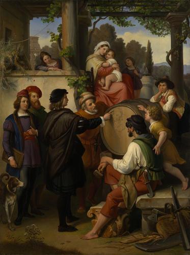 Raphael's First Sketch of the 'Madonna della Sedia'