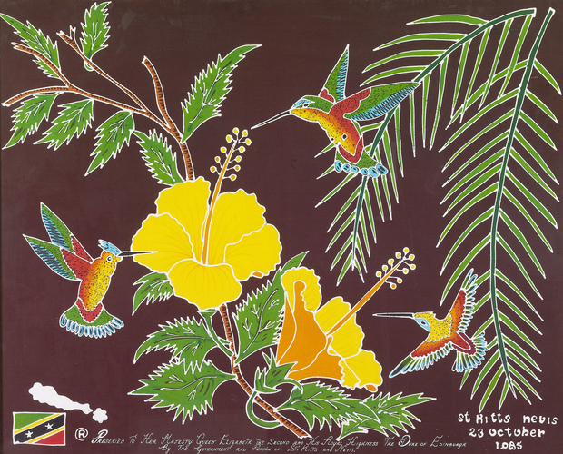 Hummingbird batik
