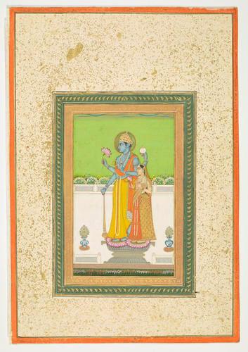 Master: Native drawings of Hindoo gods, princes & princesses. Item: Vishnu and Lakshmi