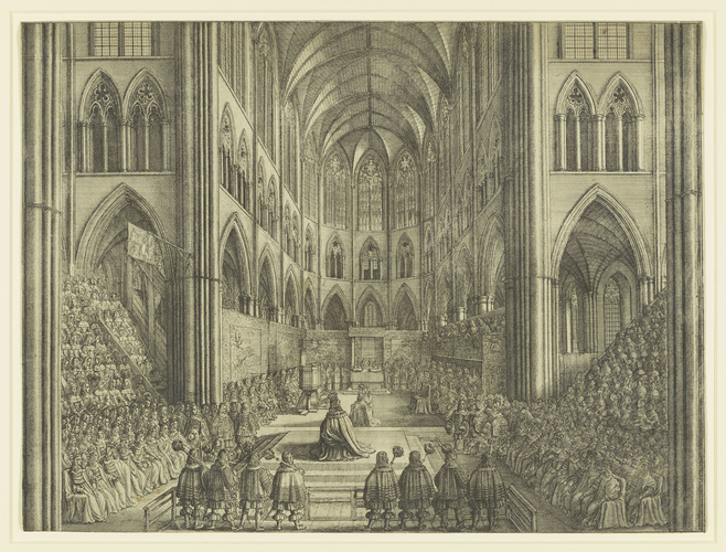 The Coronation of King Charles the II in Westminster Abbey the 23 of April 1661