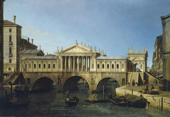 Capriccio View with Palladio's Design for the Rialto Bridge