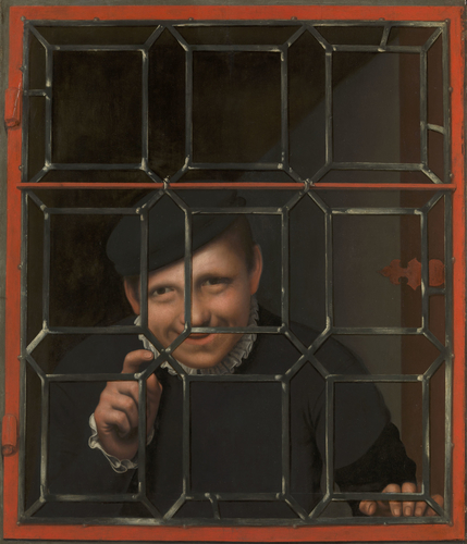 A Boy Looking through a Casement