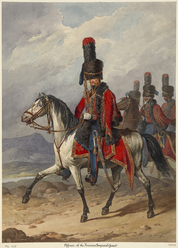 Russian Army. Officer, Imperial Guard. 1814
