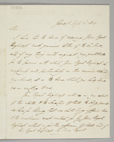 Letter from the Duke of Wellington to the Prince Regent, 2 July 1815