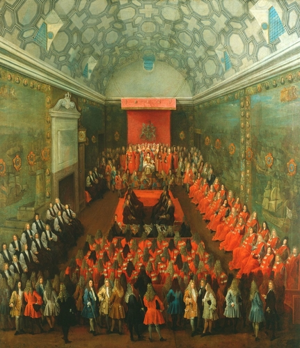 Queen Anne (1665-1714) in the House of Lords
