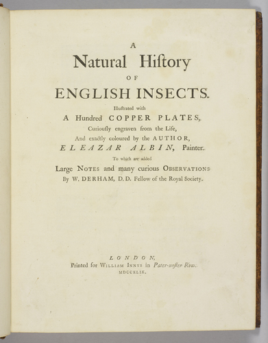 A Natural history of English insects / by Eleazar Albin