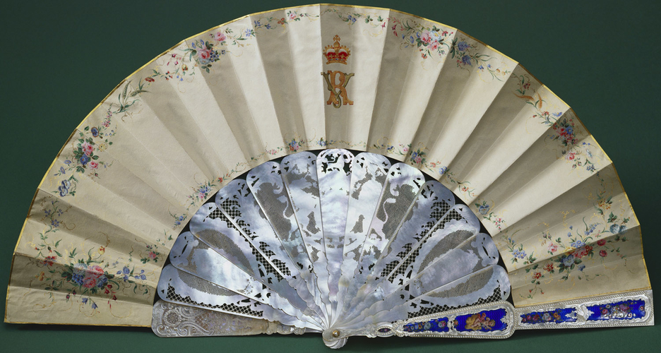 Fan depicting 'Emperor Napoleon III and Empress Eugenie'