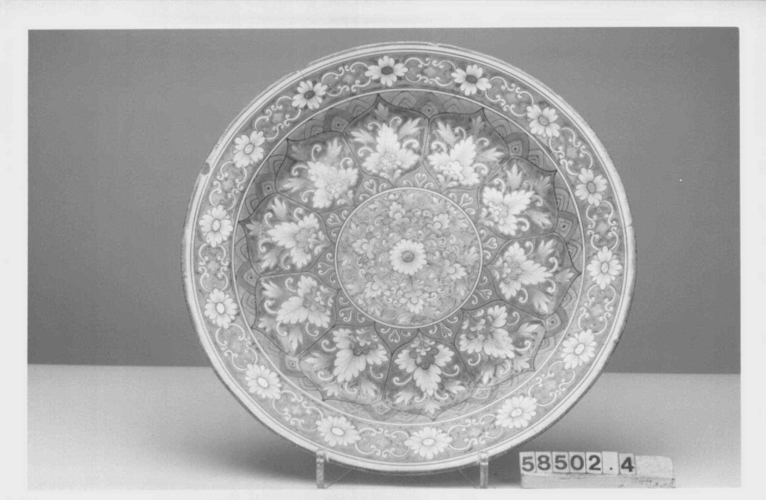 Master: Large plate (part of the Harlequin service)