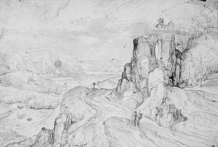 Mountainous river landscape