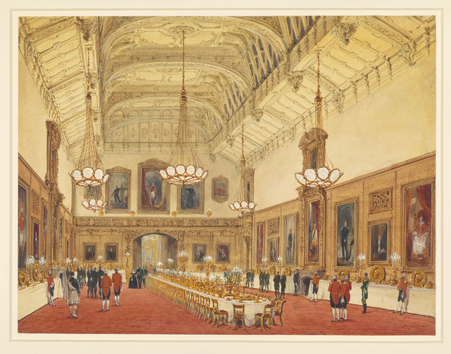 Windsor Castle: The Waterloo Chamber, 5 June 1844