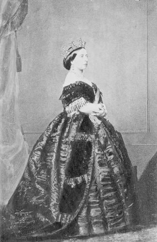 Portrait photograph of Queen Victoria (1819-1901), 1861
