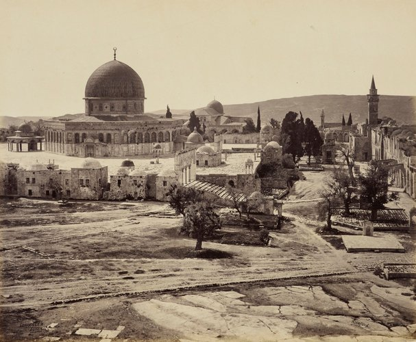 The Mosque of Omar from the Governor's House [Mosque of the Dome of the Rock, Jerusalem]