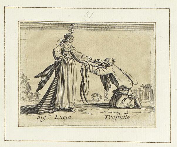 Master: Balli di Sfessania Item: Signora Lucia and Trastullo