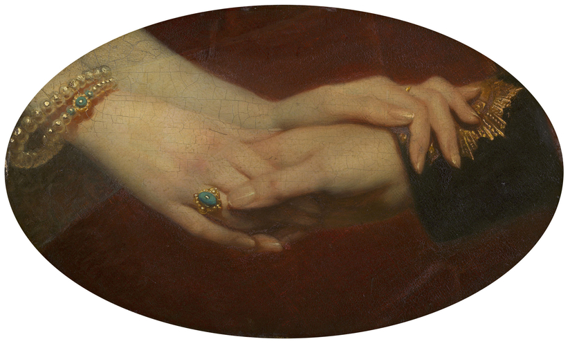 The Linked Hands of Queen Victoria (1819-1901) and Prince Albert (1819-61)