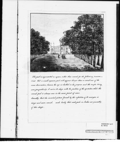Master: Designs for the Pavilion at Brighton: views of the grounds Item: Designs for the Pavilion at Brighton