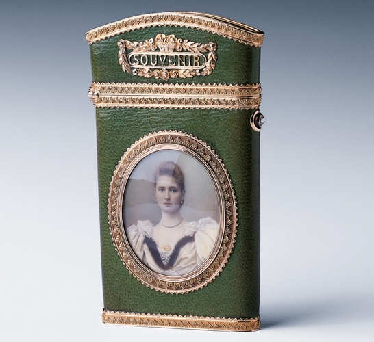 Carnet with miniature of Tsarina Alexandra Feodorovna